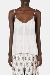 Camisole Top with Open-Back and Corsetry Details - Pippin Pink