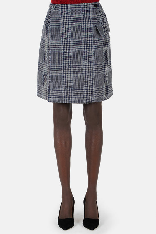 Ivonne Plaid Skirt - Navy