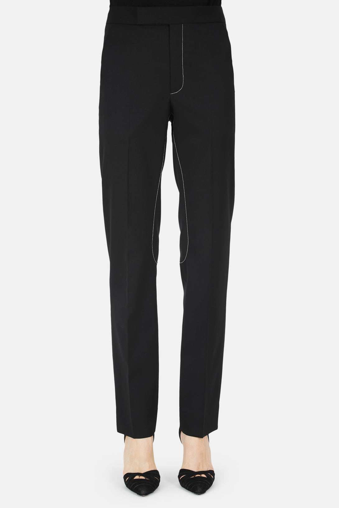 Top Stitch Riding Trouser - Black