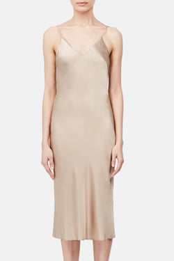 Classic Slip Dress - Pale Gold