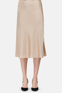 Classic Flare Skirt - Pale Gold