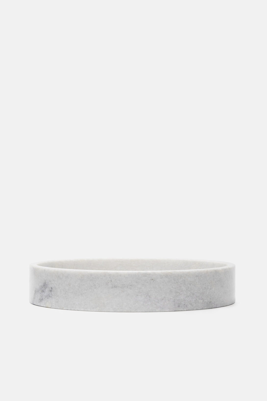 Straight Edge Marble Bowl - White