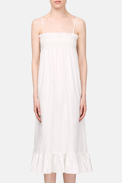 Selena Smocked Slip Dress - Cream