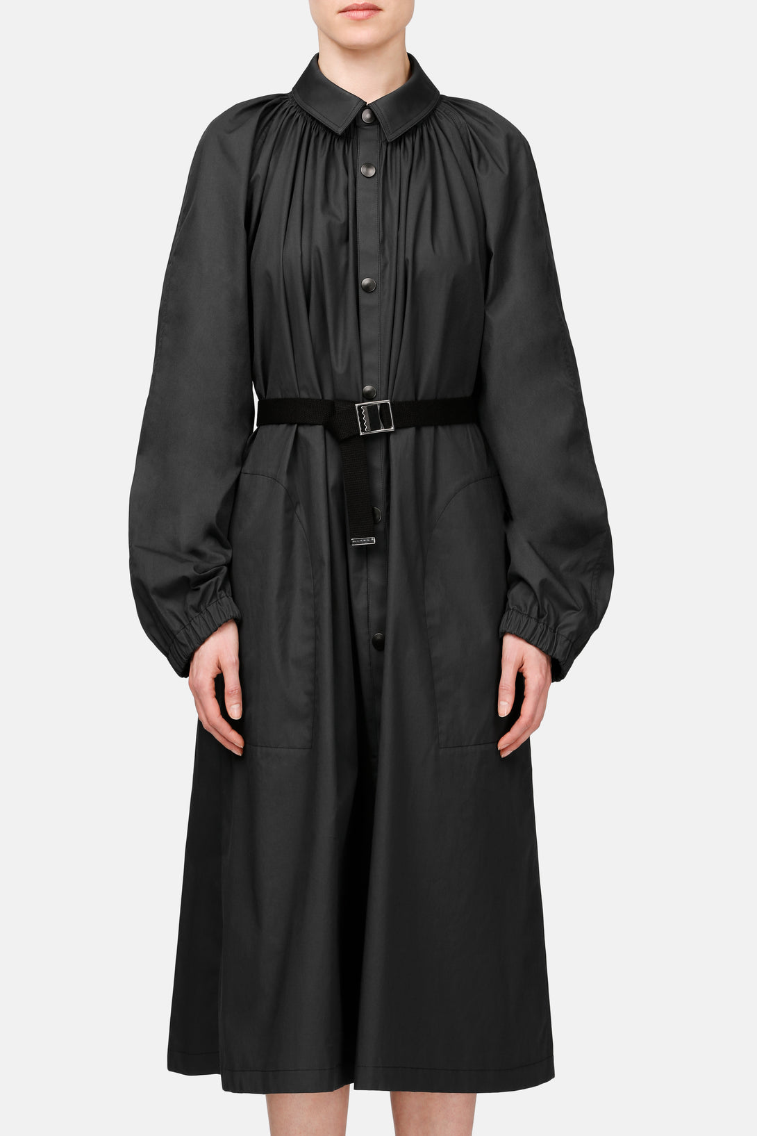 Pleated Overcoat - Carbon