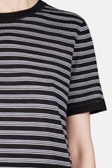 Short Sleeve Stripe T-Shirt - Indigo/White