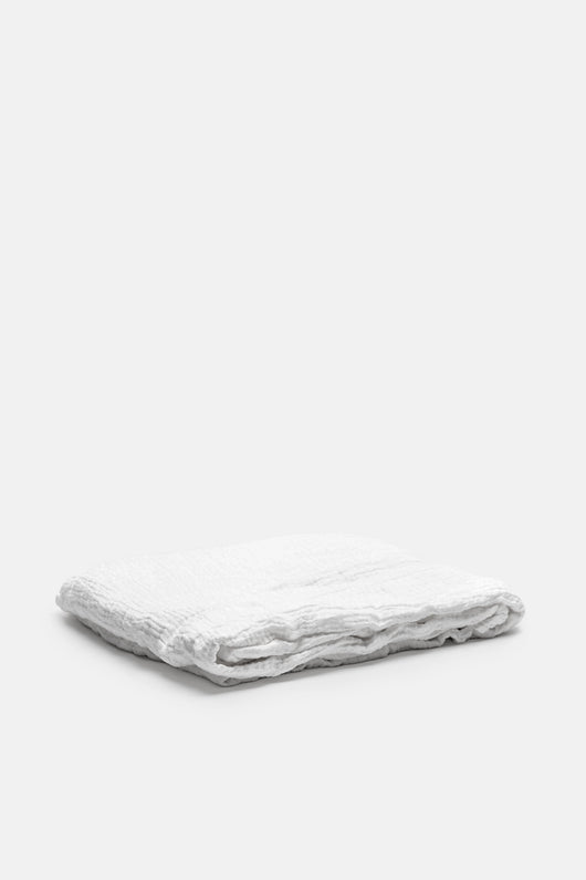 Washed Linen All-Use Textile - Oversized Bedcover - Powder
