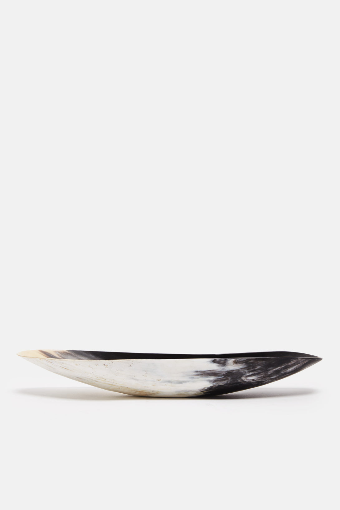 African Horn Oblong Vessel - Black