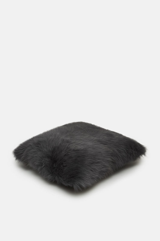 Dark Grey Toscana Fur Pillow