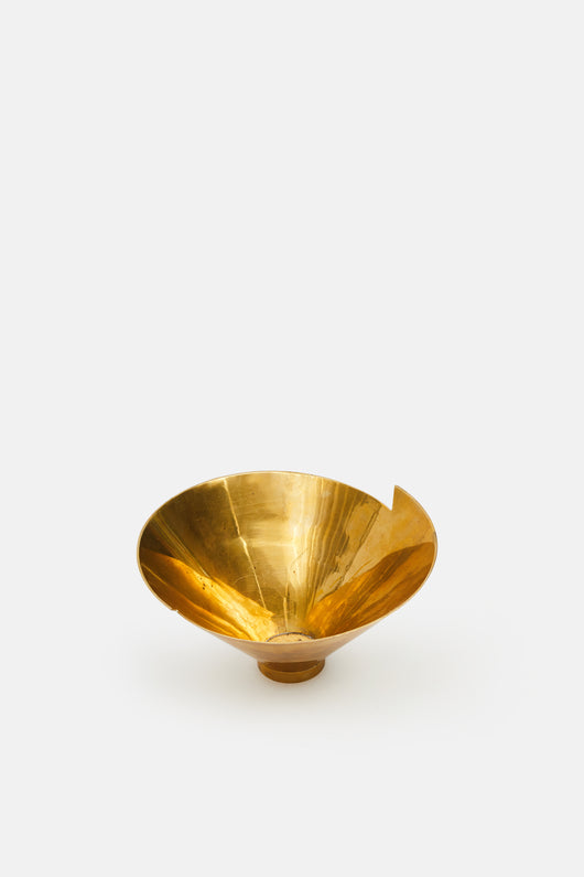 Brass Bowl with Notched Edge