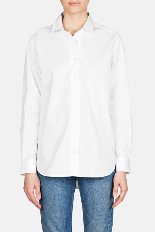 Capri Button Up - White