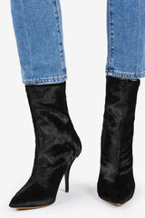 Eldon Pointed High Heel Boot - Black