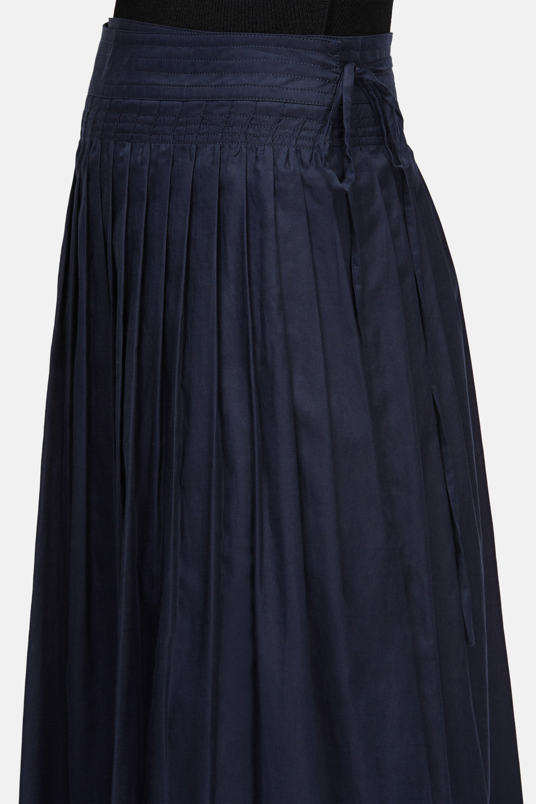 e5f0dca214 Stitch-Pleated Wrap Skirt - Coastal Blue – The Line