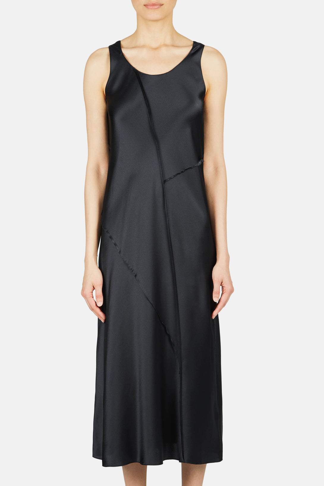 Raw Edge Tank Dress - Iron