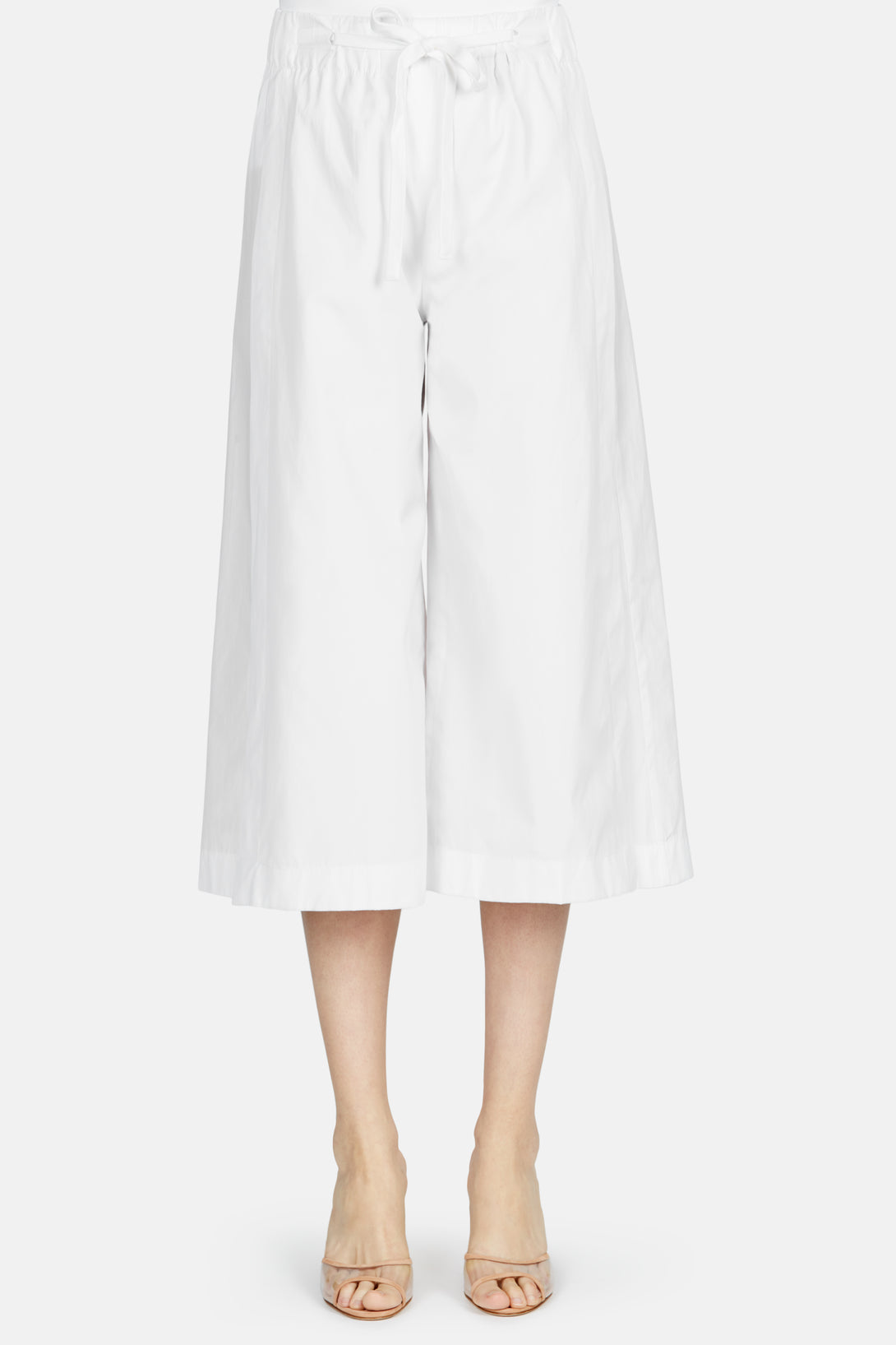 Side Slit Culotte - White