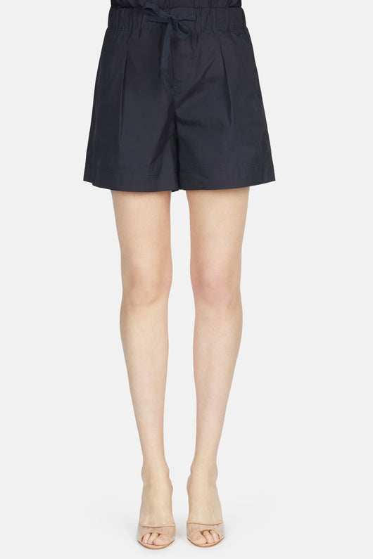 Pleated Front Short - Coastal