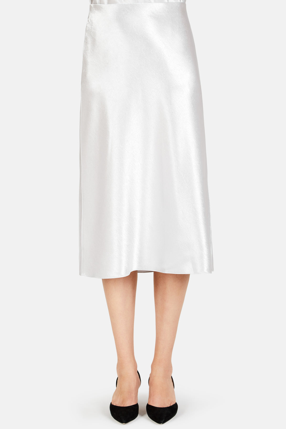 Slip Satin Skirt - Silver