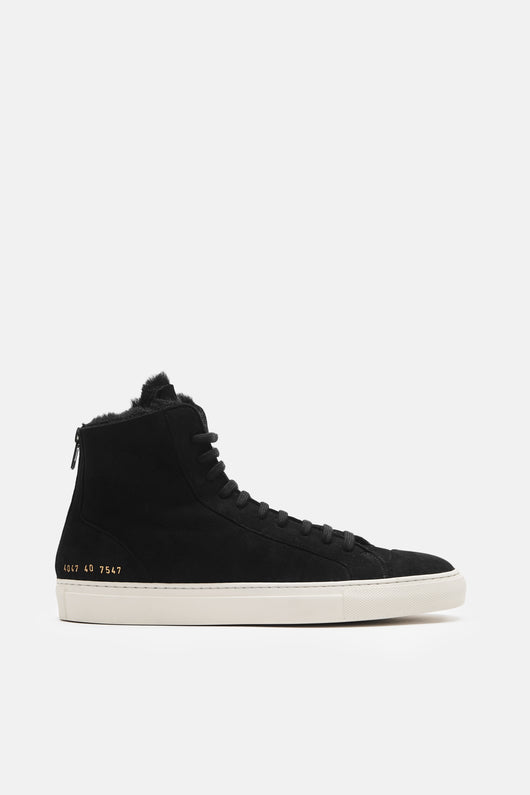 Tournament High Super Shearling Sneaker - Black