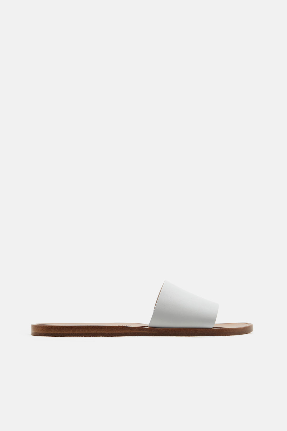 Slide in Leather - White