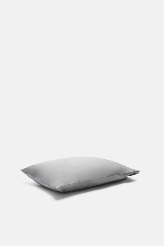 Washed Percale Standard Pillowcases - Graphite