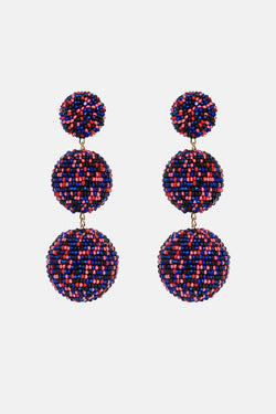 Three-Ball Beaded Earrings - Paola