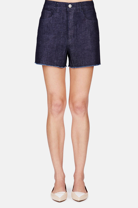High Waist Short - Indigo