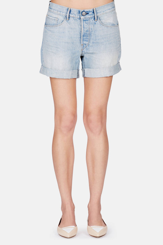 Washed Boyfriend Short - Light Blue Vintage