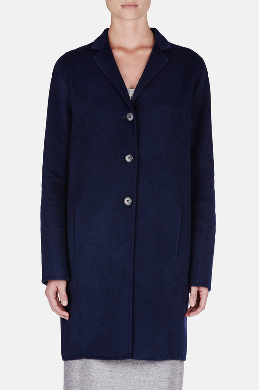 Elsa Double Coat - Dark Indigo
