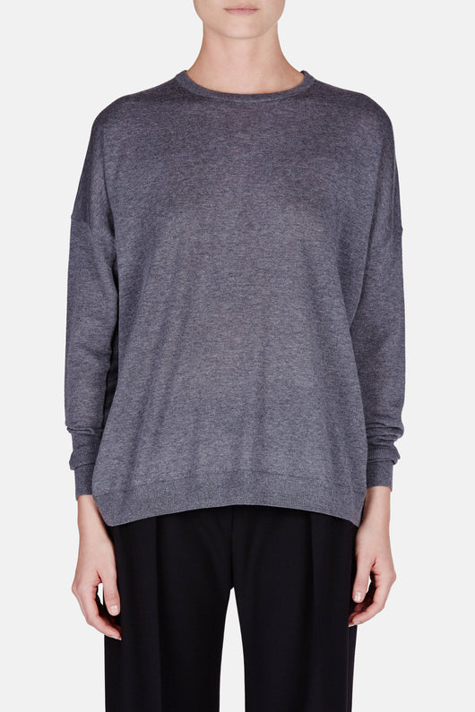 Carel Merino Sweater - Grey Melange