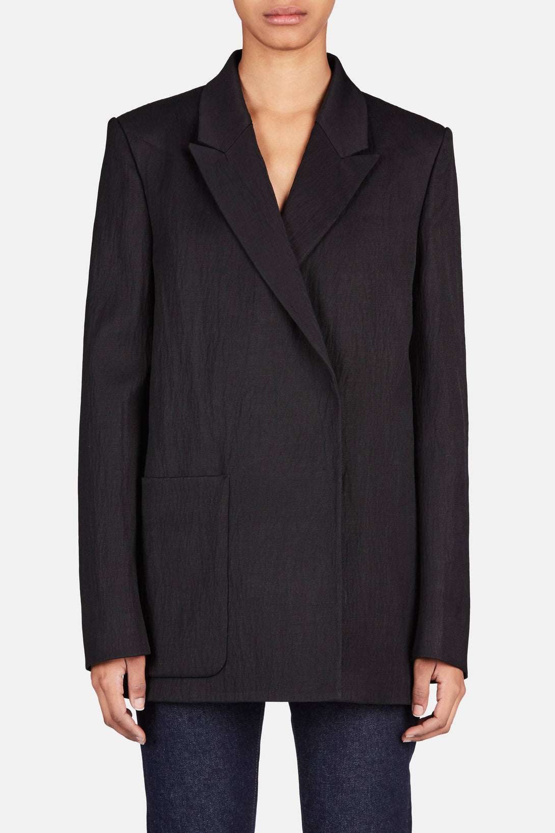 Deana Crinkle Jacket - Black