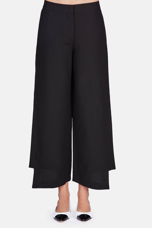 Haddie Crepe Pants - Black