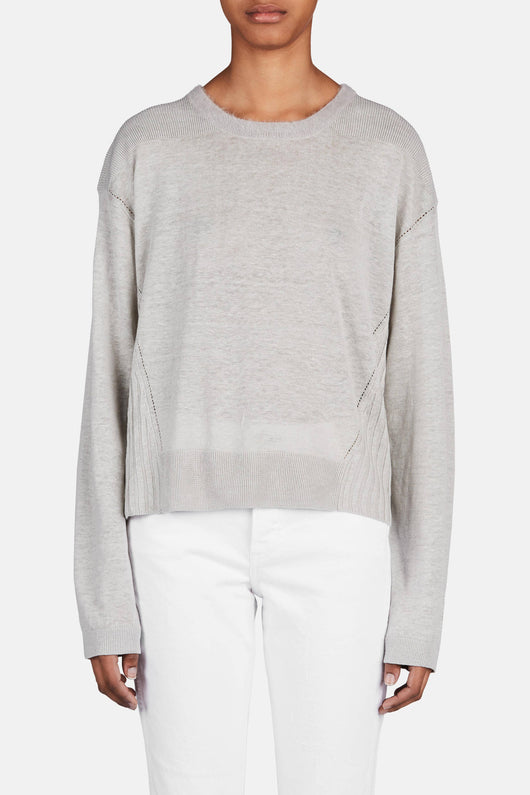 Phira Linen Sweater - Light Grey