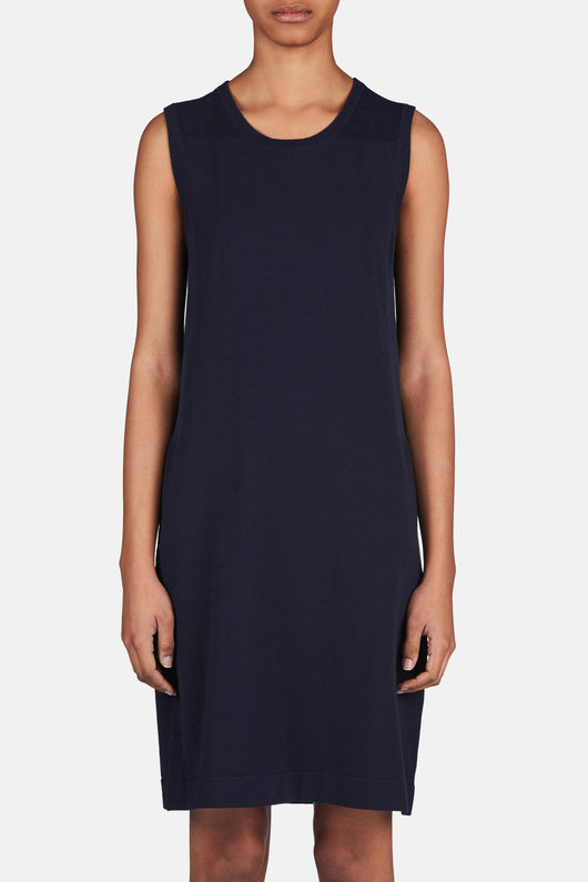 Hanya Cotton Dress - Dark Indigo