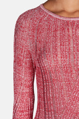 Marcy Mouline Sweater - Red/White