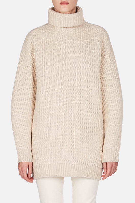 Isa Wool Sweater - Camel Beige