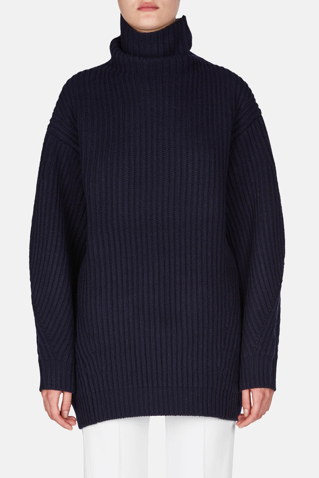 Isa Wool Sweater - Navy