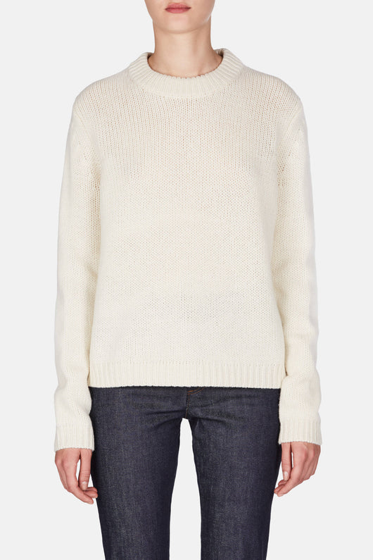Saidy Wool Sweater - Pearl White