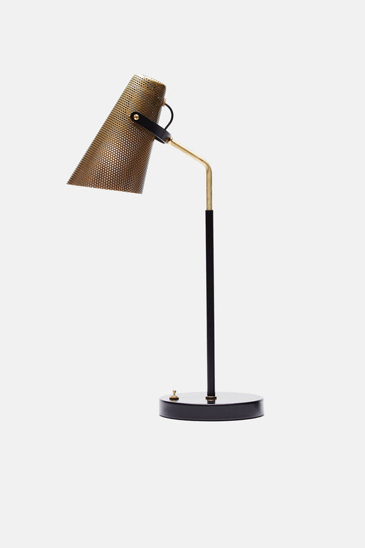 Eperon Black and Brass Table Lamp with Perforated Shade