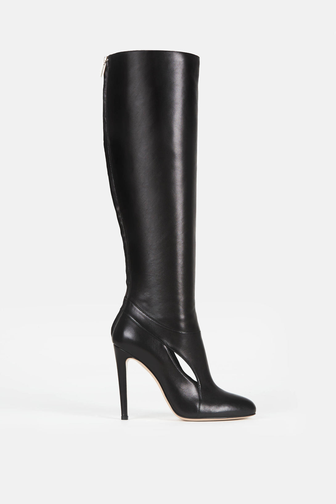 Cut Out Knee Boot - Black