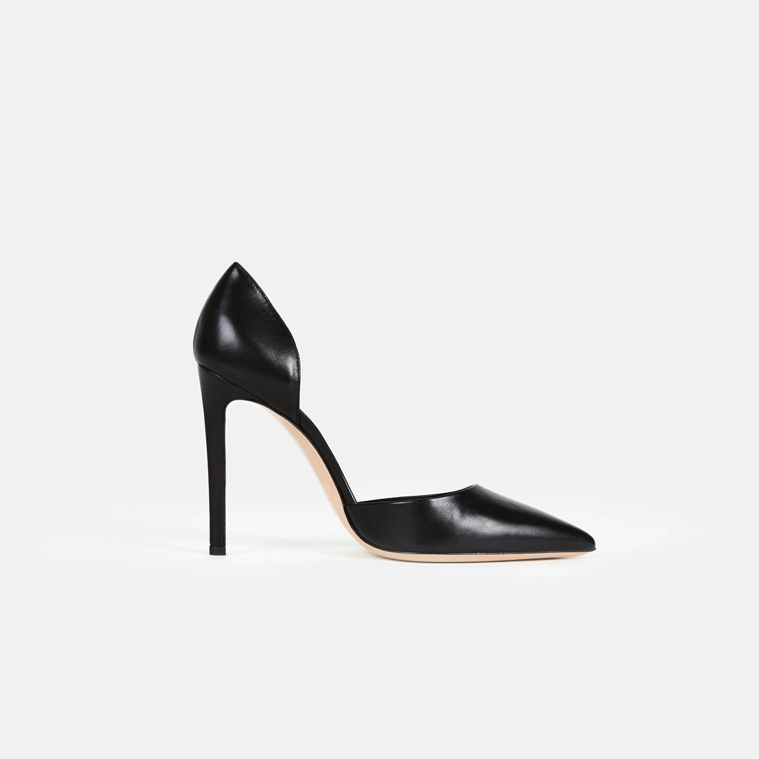 D'orsay Heel - Black Leather