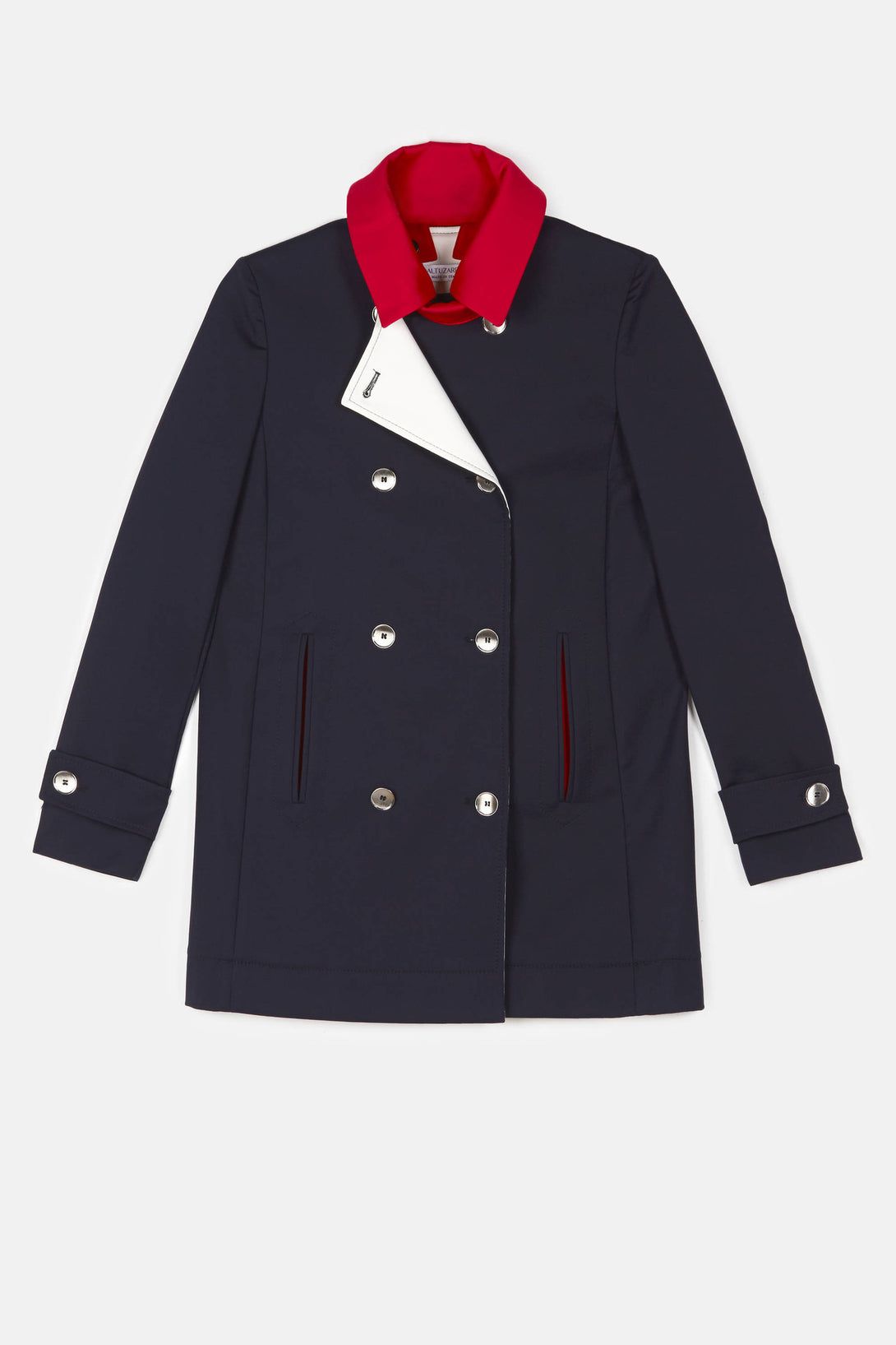 Ulysses Peacoat - Navy w/Red