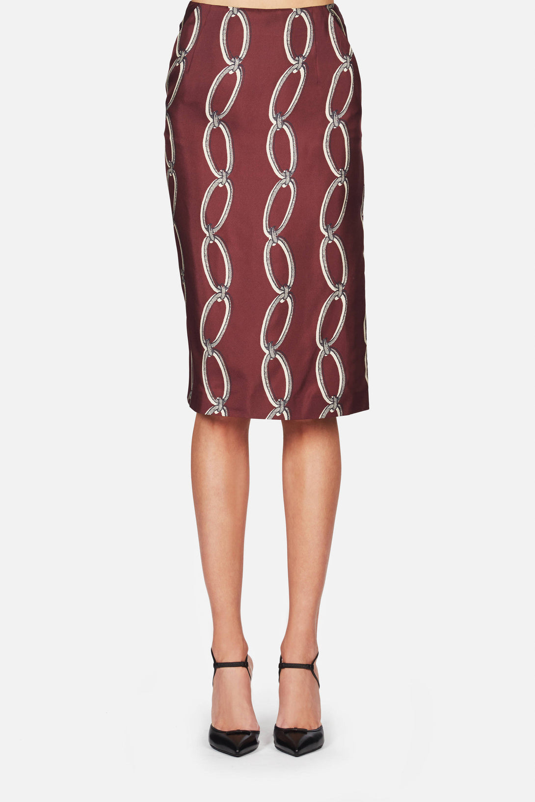 Intrepid Skirt - Burgundy Chain