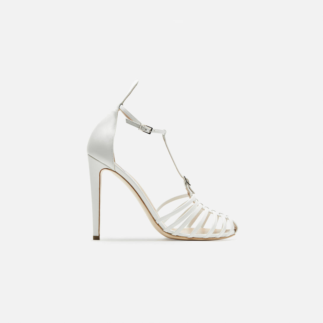 Firenze T-Strap Sandal - Natural White