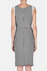 Portia Dress - Black Crinkled Gingham
