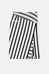 Arcadia Skirt - Black Blanket Stripe