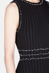 Samurai Knit Dress - Black