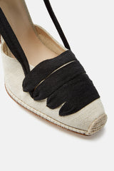 Espadrille D'Orsay- Almond