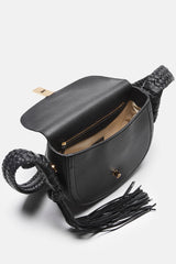 Ghianda Bullrope Saddle Bag - Pebbled Black