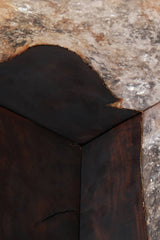 Dark Brown Teak and Resin