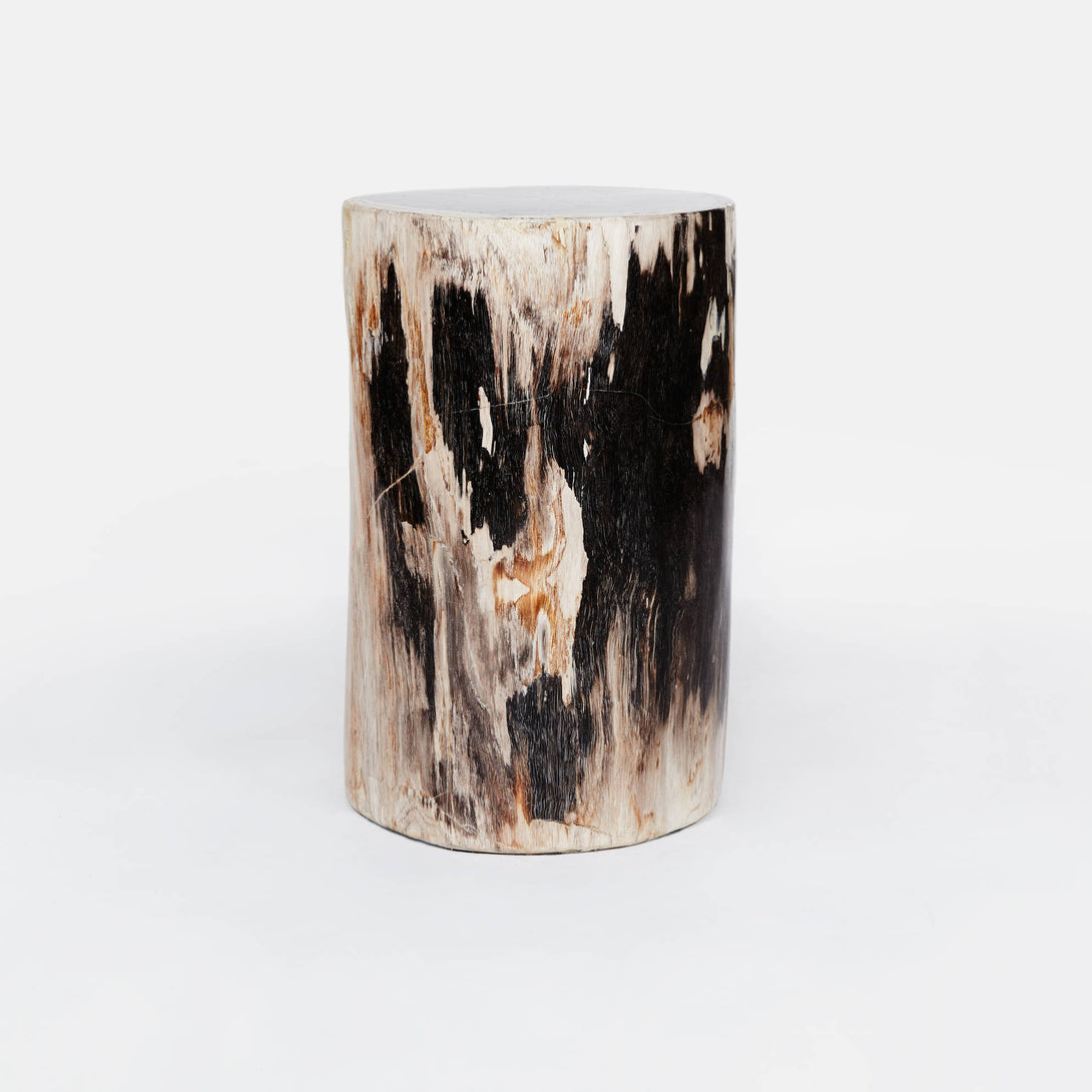 Petrified Wood Stool/Side Table 12 Diameter X 20 H