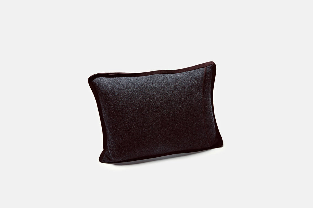 Half Milano Pillow - Dark Grey/Chocolate